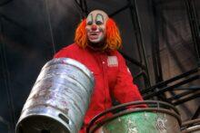 Slipknot's Shawn 'Clown' Crahan - photo by Ros O'Gorman