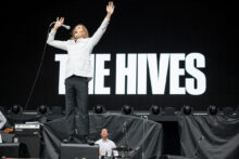 The Hives perform at Etihad Stadium in Melbourne on Sunday 6 December 2015. They are in Australia supporting ACDC on the Australian leg of the Rock Or Bust World Tour.