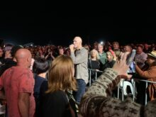 Peter Garrett of Midnight Oil at Mt Duneed - photo Noise11.com