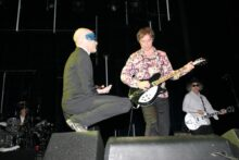 Peter Buck and Michael Stipe of REM in Melbourne 3 April 2005 photo by Ros O'Gorman