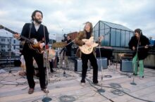 The Beatles rooftop performance Photo from Apple Records