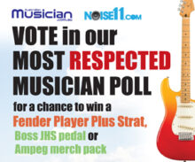 Australian Music and Noise11 Most Respected Musician Poll